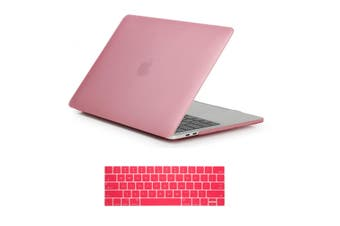 MacBook Pro 15 inch Case 2019 2018 2017 2016 Release A1990 A1707 Shell Cover case with Touch Bar - pink