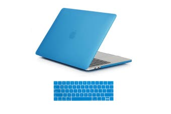 MacBook Pro 15 inch Case 2019 2018 2017 2016 Release A1990 A1707 Shell Cover case with Touch Bar light blue