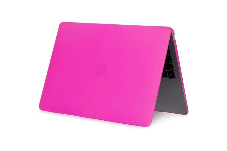 MacBook Air 13 Inch Case 2020 2019 2018, A1932, A2179,Hard Shell Case Keyboard Cover Hot Pink