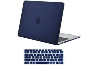 MacBook Air 13 Inch Case 2020 2019 2018, A1932, A2179,Hard Shell Case Keyboard Cover Blue