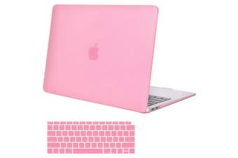 MacBook Air 13 Inch Case 2020 2019 2018, A1932, A2179,Hard Shell Case Keyboard Cover Pink