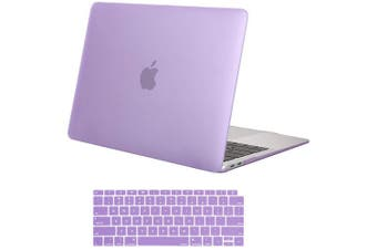MacBook Air 13 Inch Case 2020 2019 2018, A1932, A2179,Hard Shell Case Keyboard Cover Purple