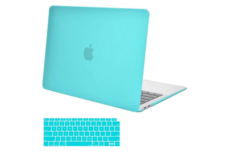 MacBook Air 13 Inch Case 2020 2019 2018, A1932, A2179,Hard Shell Case Keyboard Cover tiffany blue