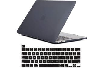 MacBook Pro 13 inch 2020 Release A2251 A2289 Matte Shell Case Keyboard Cover Touch Bar Black