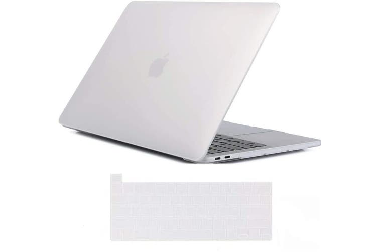 MacBook Pro 13 inch 2020 Release A2251 A2289 Matte Shell Case Keyboard Cover Touch Bar Clear