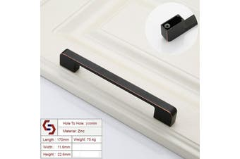 Zinc Kitchen Cabinet Handles Drawer Bar Handle Pull black+copper color hole to hole size 160mm