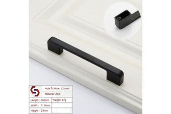 Zinc Kitchen Cabinet Handles Drawer Bar Handle Pull black color hole to hole size 128mm