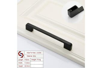 Zinc Kitchen Cabinet Handles Drawer Bar Handle Pull black color hole to hole size 160mm