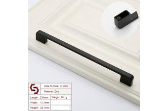Zinc Kitchen Cabinet Handles Drawer Bar Handle Pull black color hole to hole size 224mm