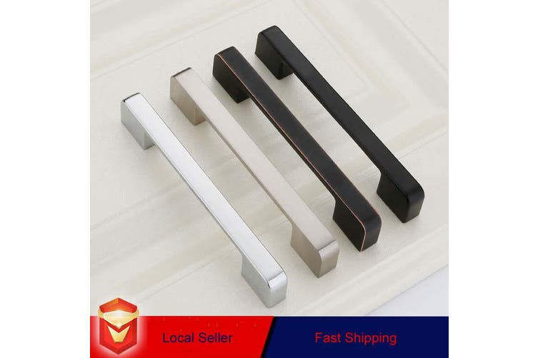 Zinc Kitchen Cabinet Handles Drawer Bar Handle Pull brushed silver color hole to hole size 160mm