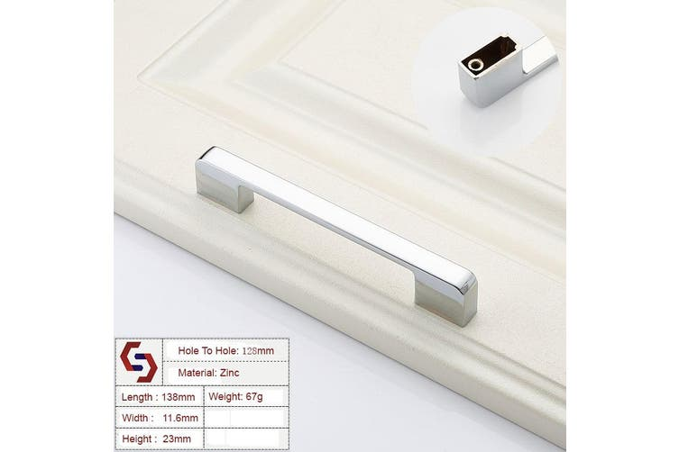 Dick Smith Zinc Kitchen Cabinet Handles Drawer Bar Handle Pull Silver Color Hole To Hole Size 128mm Drawers Cabinets