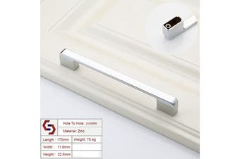 Zinc Kitchen Cabinet Handles Drawer Bar Handle Pull silver color hole to hole size 160mm