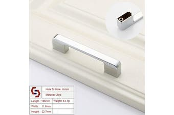 Zinc Kitchen Cabinet Handles Drawer Bar Handle Pull silver color hole to hole size 96mm