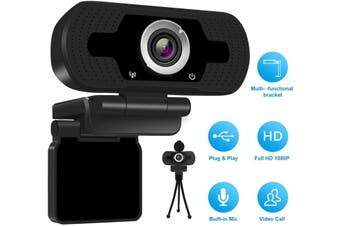 1080p HD Webcam USB Desktop Computer Laptop Camera Video Calling Built-in Mic