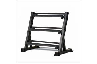 3-Tier Dumbbell Holder Rack Multilevel Weight Storage Organizer for Home Gym