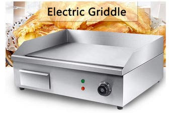 3000W Stainless Steel Commercial Griddles Grill BBQ Hot Plate Cooktop
