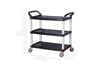 3 Tier Large Service Food Cart Restaurant Trolley Kitchen Catering Shelf Storage