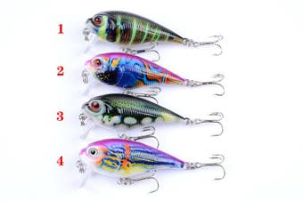 4x 5.5cm Popper Crank Bait Fishing Lure Lures Surface Tackle Saltwater