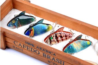 4x 5.5cm Vib Bait Fishing Lure Lures Hook Tackle Saltwater