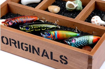 4X 6.5cm Popper Poppers Fishing Lure Lures Surface Tackle Saltwater