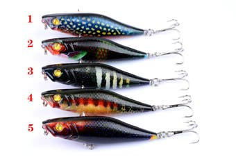 5X 7.5cm Popper Poppers Fishing Lure Lures Surface Tackle Fresh Saltwater