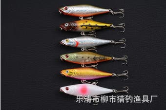 6X 7.5cm Popper Poppers Fishing Hard Lure Lures Surface Tackle Fresh Saltwater