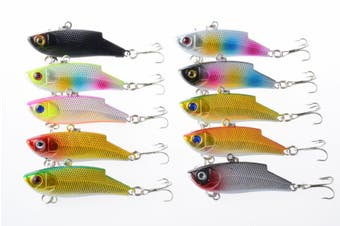 10x 5.5cm Vib Bait Fishing Lure Lures Hook Tackle Saltwater