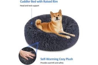 Soft Dog Bed Round Washable Plush Pet Kennel Cat Bed Mat Sofa Large 70cm