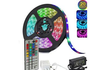 5050 RGB LED Strip Lights Waterproof SMD 300 IP65 5m 12V 44key IR Controller