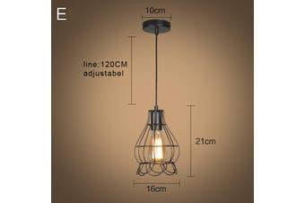 Iron Pendant Lighting Vintage Ceiling Light Bar Lamp Kitchen Restaurant