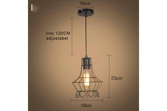 Iron Pendant Lighting Vintage Ceiling Light Lamp Kitchen Restaurant Bar