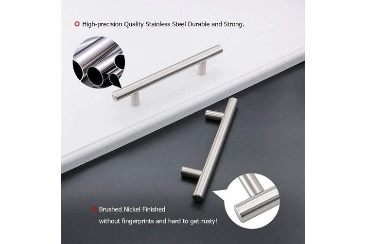 Brushed Stainless steel Kitchen Door Cabinet Drawer Handle Pulls 192MM
