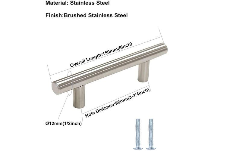 Brushed Stainless steel Kitchen Door Cabinet Drawer Handle Pulls 96MM