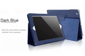 Leather Case Cover For Apple iPad 2 3 4  2011-2013 dark blue