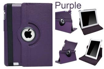 360 Rotate Leather Case Cover For Apple iPad mini 1 2 3 Purple