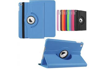 360 Rotate Leather Case Cover For Apple iPad mini 1 2 3 sky blue