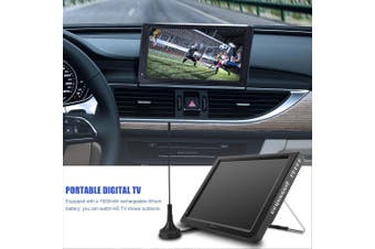 "12"" Portable Car Digital Analog TV 1080P HD 16:9 DVB-T-T2 TFT LED MP4 MP3 Player"