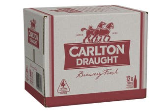 Carlton Draught Beer Case 12 x 750mL Bottles