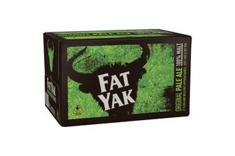 Fat Yak Original Pale Ale Beer 24 x 345mL Bottles