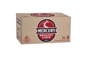 Mercury Draught Cider Case 24 x 375mL Bottles