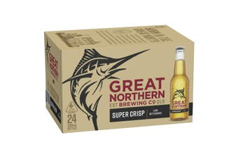 Great Northern Super Crisp Lager Beer Case 24 x 330mL Bottles