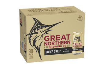 Great Northern Super Crisp Lager Beer Case 30 x 375mL