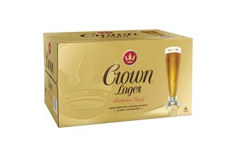 Crown Lager Beer 24 x 375mL Bottles