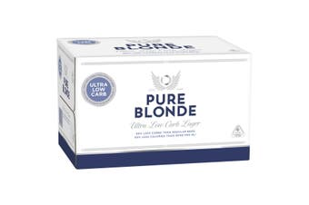 Pure Blonde Ultra Low Carb Lager Beer 24 x 355mL Bottles