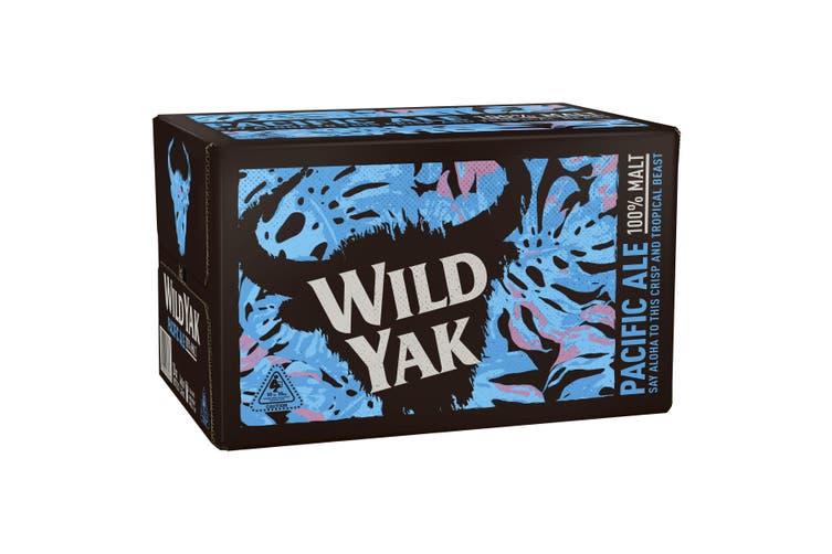 Wild Yak Pacific Ale Beer Case 24 x 345mL Bottles