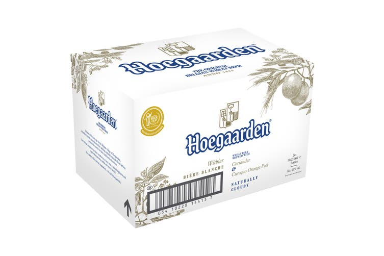 Hoegaarden Beer 24 x 330mL Bottles Plus Bonus Sonder Sparkling Rose 24 x 250ml cans