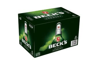 Beck's Beer 4% 24 x 330mL Bottles (Bottled in Australia )