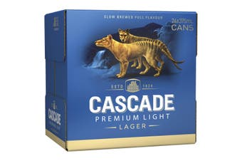 Cascade Premium Light Beer Case 24 x 375mL Cans 2.4%