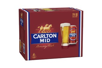 Carlton Mid Beer Case 30 x 375mL Cans