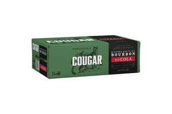 Cougar Bourbon & Cola 24 x 375mL Cans (Free Shipping)